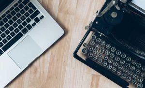 laptop typewriter