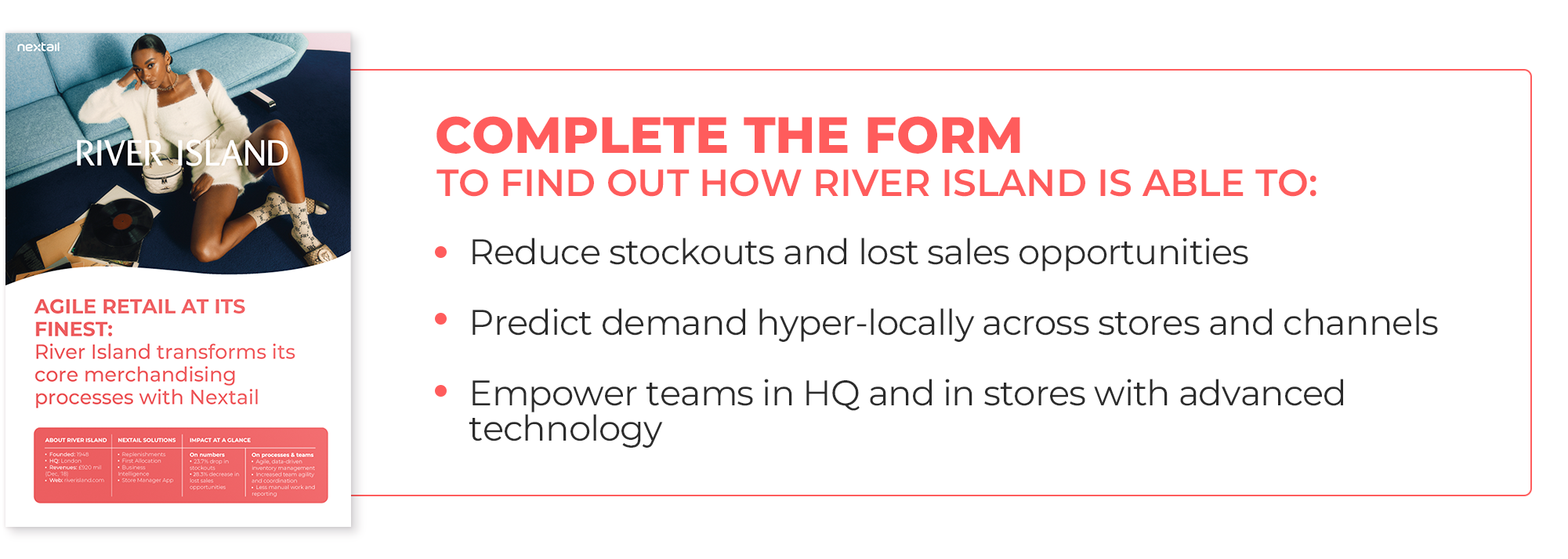 Image of the River Island case study describing the change of its merchandising processes